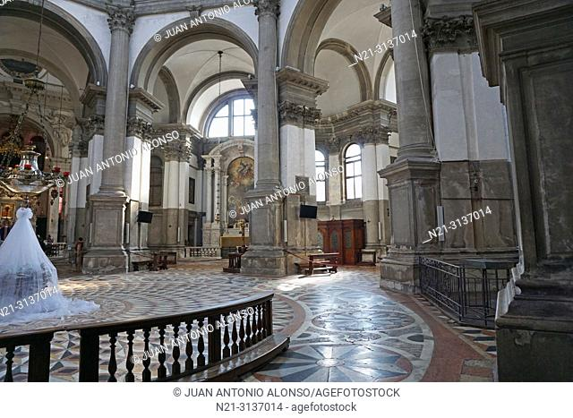 German artist Sylke Von Gaza's work 'Il Nido', 'A Pilgrimage Towards Equilibrium'. Central nave. Santa Maria della Salute. Dorsoduro