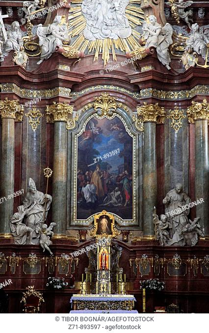 Poland, Poznan, St Stanislas Parish Church, interior