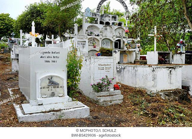 graves on a country-specific cemetery, Ecuador, Galapagos Islands, Santa Cruz