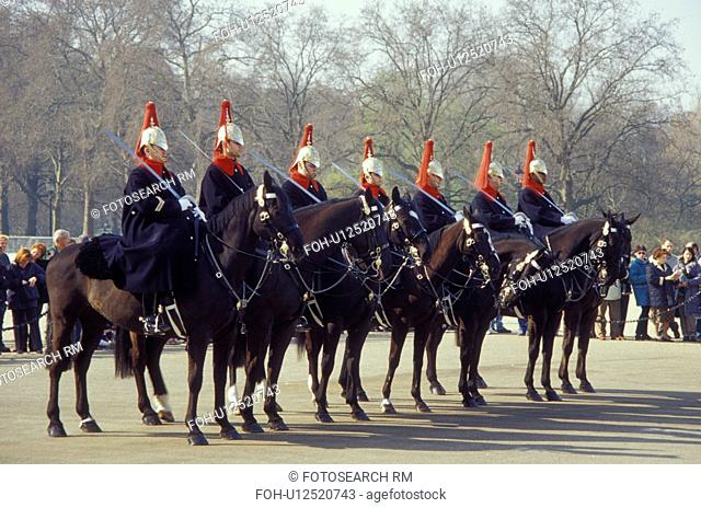 Horse Guards, London, England, Great Britain, United Kingdom, Europe, Changing of the Guards (Horse Guards) outside Whitehall