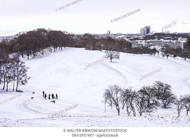 Germany, Bavaria, Munich, Olympiapark in winter