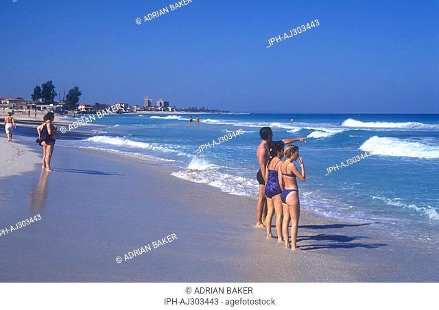 Cuba - Scene on the beautiful Varadero Beach, a popualr resort on the Hicacos Peninsula