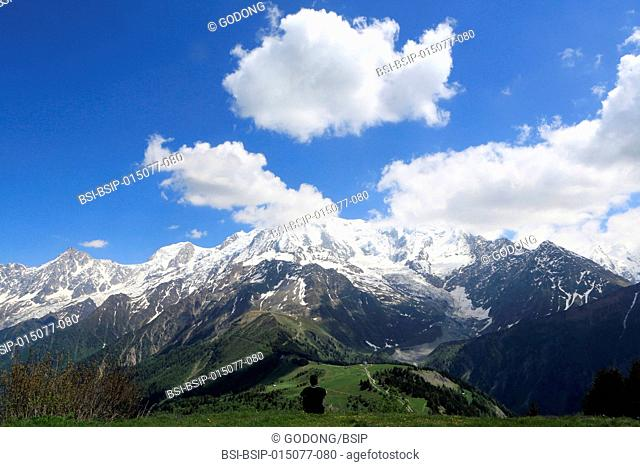 Mont Blanc is the highest mountain in the Alps and the highest peak in Europe