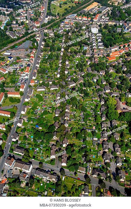 Dortmund-Nette Hansemann-Siedlung, colliery estate for Hansemann colliery, colliery houses, miner's settlement, Dortmund, Ruhr area, North Rhine-Westphalia