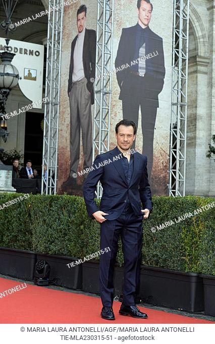 """The actor Stefano Accorsi during the photocall of tv series """""""" 1992 """""""", Rome, ITALY-23-03-2015"""