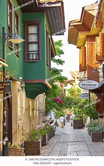 Kaleici old town streets, Alanaya, Turkey
