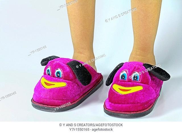 Soft Velvet Cartoon Indoor Slippers for Children