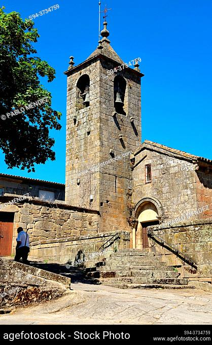 Church of Santo Estebo in Allariz, Orense, Spain