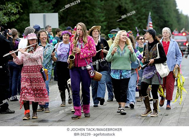 USA, United States of America, Alaska, Gustavus: 4th July, Independence day party in Gustavus, a village with 400 residents