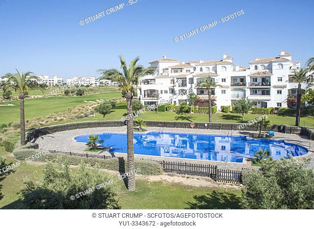 Swimming pool at Hacienda Riquelme Golf Resort, Murcia Spain