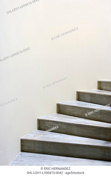 Detail wooden staircase
