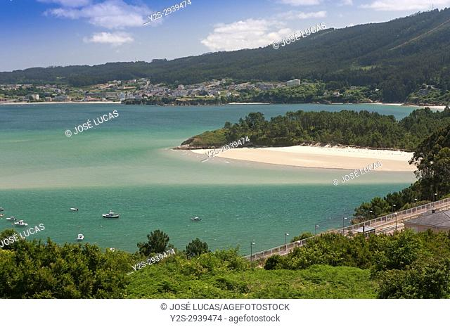 Landscape and Ria do Barqueiro, Manon, La Coruna province, Region of Galicia, Spain, Europe