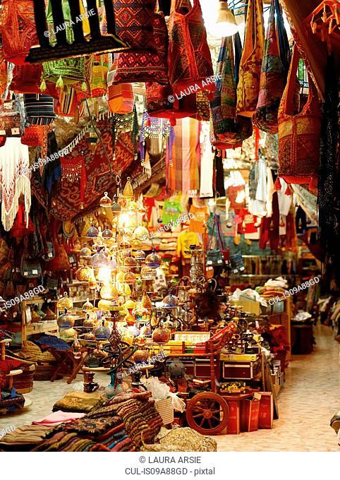 Goods in market in Old City of Jerusalem, Israel
