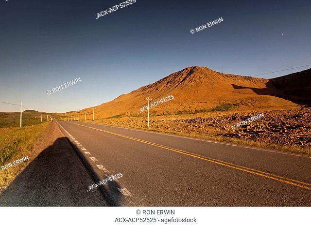 The highway passes right through the Tablelands in Gros Morne National Park, Newfoundland and Labrador, Canada