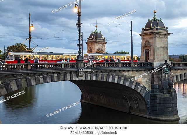 Evening at Legions Bridge in Prague, Vltava