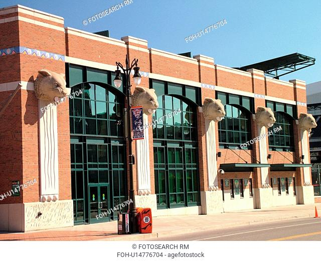 Detroit, MI, Michigan, Motor City, Comerica Park, Stadium, Detroit Tigers, MLB, Baseball