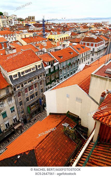 View from Elevador de Santa Justa, Lisbon, Portugal