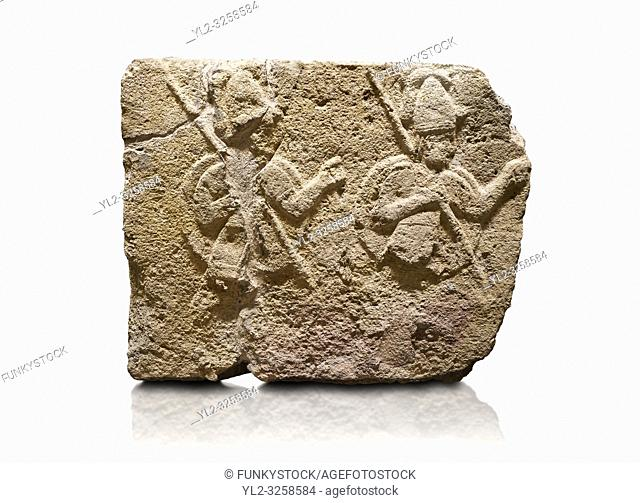 Hittite relief sculpted orthostat stone panel of Long Wall Limestone, Karkamis, (Kargamis), Carchemish (Karkemish), 900-700 B.C