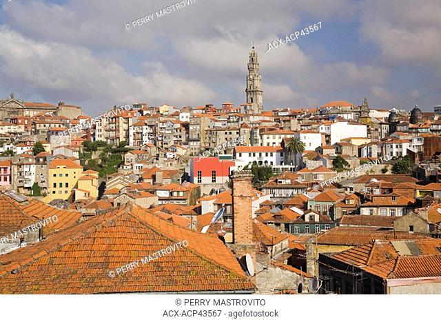 Old Porto city skyline with church bell tower, Portugal, Europe