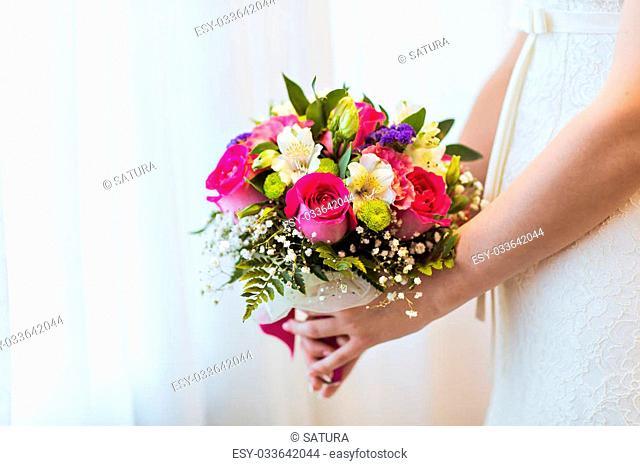 wedding bouquet, bridal bouquet, beautiful bouquet of different colors
