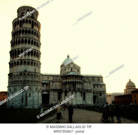 Cathedral and Leaning Tower of Pisa, Campo dei Miracoli, Tuscany, Italy