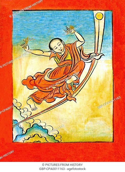 China / Tibet: Namkhai Nyingpo, one of the 'twenty five disciples' of Padmasambhava, mid-19th century