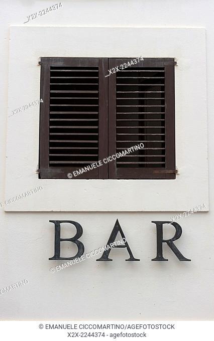 Bar, Old Town, Dalt Vila, Eivissa, Ibiza, Balearic Islands, Spain, Mediterranean, Europe