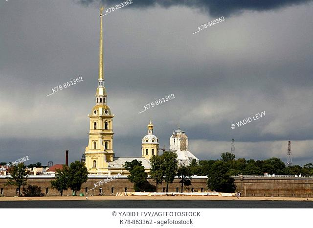 The Cathedral of SS Peter and Paul in the Peter and Paul Fortress. St. Petersburg, Russia