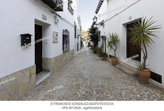.Street of the pretty village of Altea in the province of Alicante, Spain