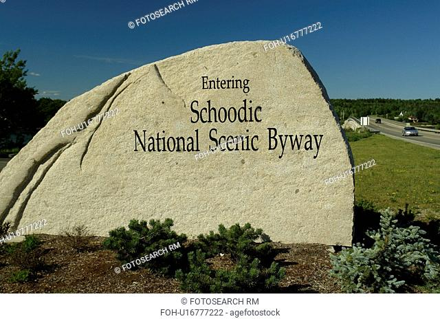 Waukeag, ME, Maine, Schoodic National Scenic Byway, entrance