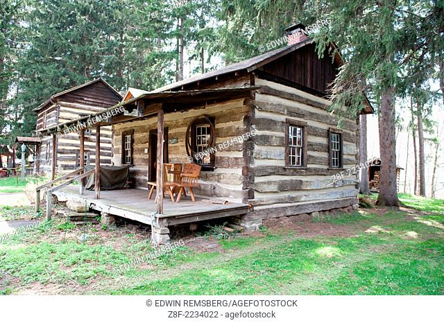 Log cabin at Spruce Forest in Grantsville Maryland