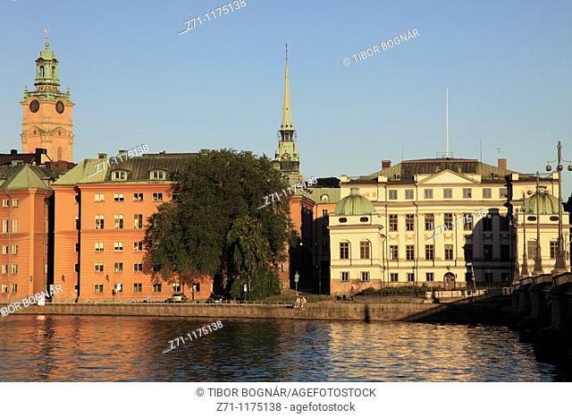 Sweden, Stockholm, Gamla Stan, Old Town, general view