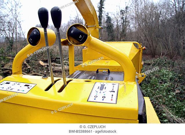 controls of a chaff-cutting machine, Germany