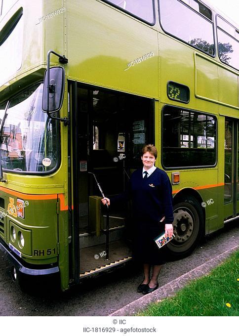 Dublin, Co Dublin, Ireland, Bus driver