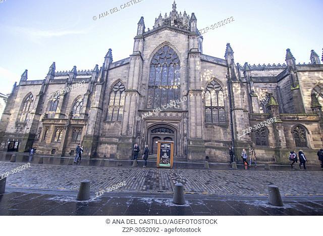 St Giles cathedral in Edimburgh. Scotland, UK