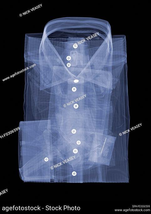Folded shirt, X-ray