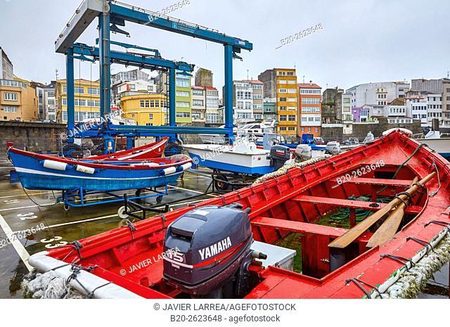 Fishing port. Malpica de Bergantiños, Costa da Morte, A Coruña, Galicia, Spain