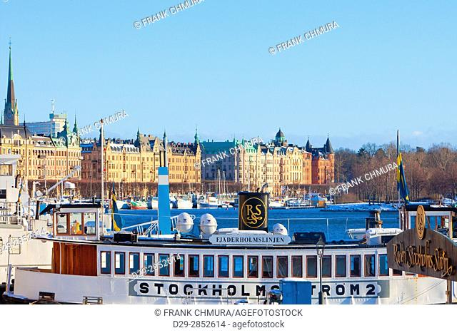 Sweden, Stockholm - Beautiful houses at Strandvagen
