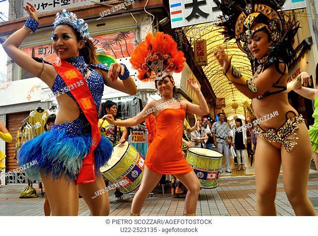 Naha, Okinawa, Japan: festival to celebrate the twinning between Naha and São Vicente, Brazil