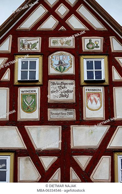 Historic center of Iphofen (town), Lower Franconia, Bavaria, Germany