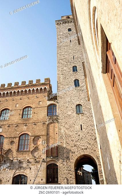 Torre Grosso, the biggest and highest tower of San Gimignano, Tuscany, Italy