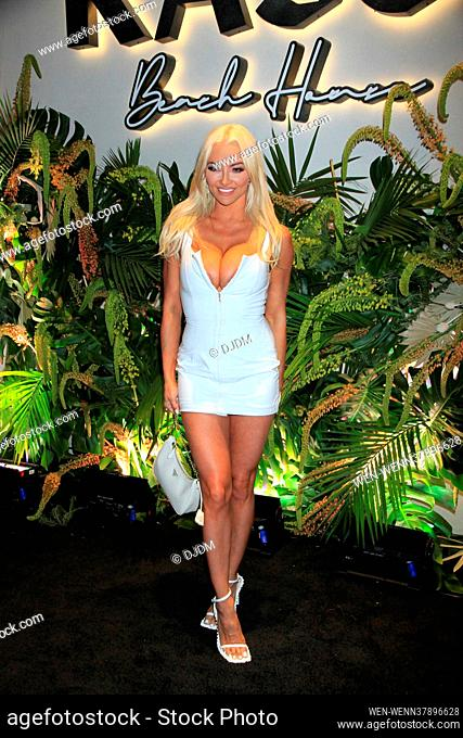 Celebrities attend the grand opening of Kassi Beach House in Las Vega, Nevada Featuring: Lindsey Pelas Where: Las Vegas, Nevada