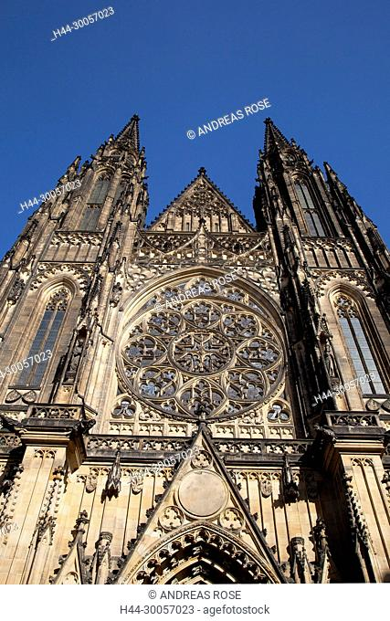 The St. Vitus Cathedral, St. Vitus Cathedral, Prague Castle, Hradcany, UNESCO World Heritage Site, Prague, Czech Republic, Europe