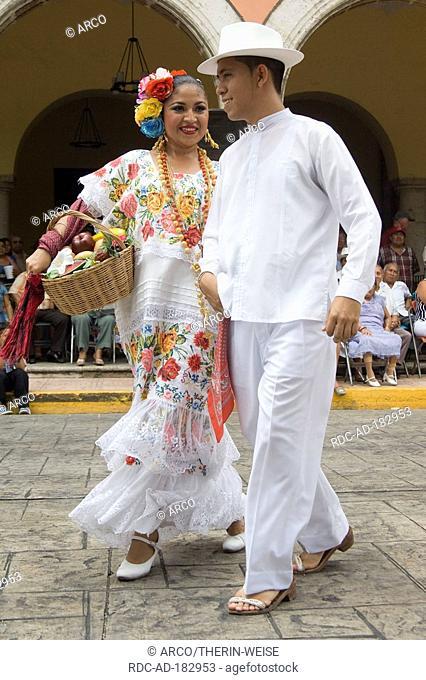 Dancers in traditional clothes, Merida, Yucatan, Mexico