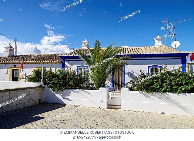 Cacela Velha, houses in village near Vila Real de Santo Antonio, Algarve, Portugal, EUrope