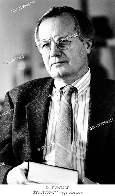 Bill Moyers, American Journalist and White House Press Secretary for President Lyndon Johnson, Portrait, circa 1980's