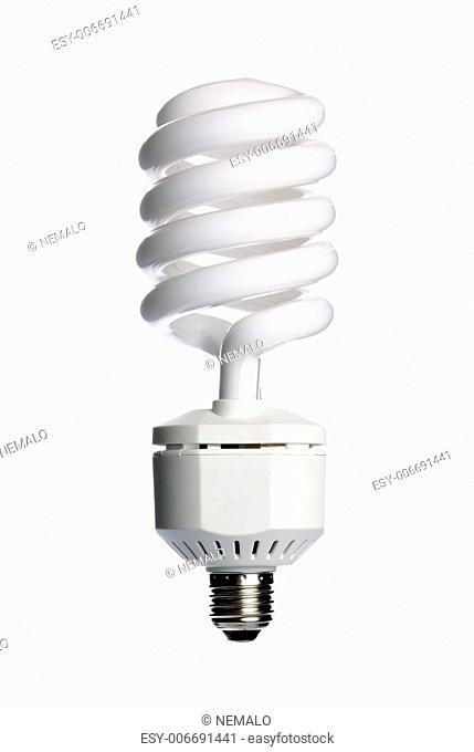 Energy saving fluorescent light bulb (CFL) isolated on a white background
