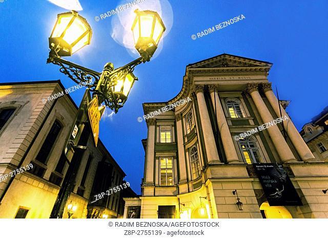Czech Republic, Prague, The Estates Theatre, Stavovské divadlo is a historic theatre in Prague. premiered Mozart's Don Giovanni