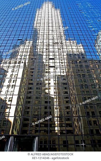 reflection, Empire State Building, New York, USA