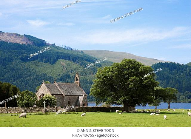 St. Bega's Church by the Lake, Bassenthwaite, Lake District, Cumbria, England, United Kingdom, Europe